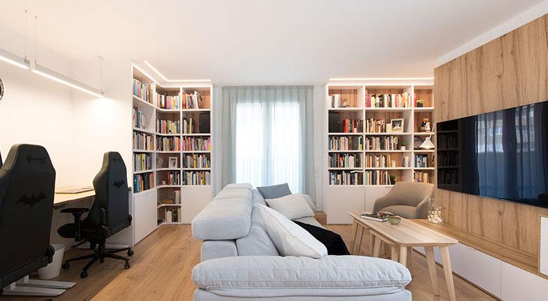 El blanco y la madera son la combinacion perfecta para cualquier sala